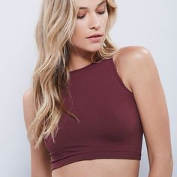077d0a3401 Free People Tops - Free People High Neck Seamless Crop Top